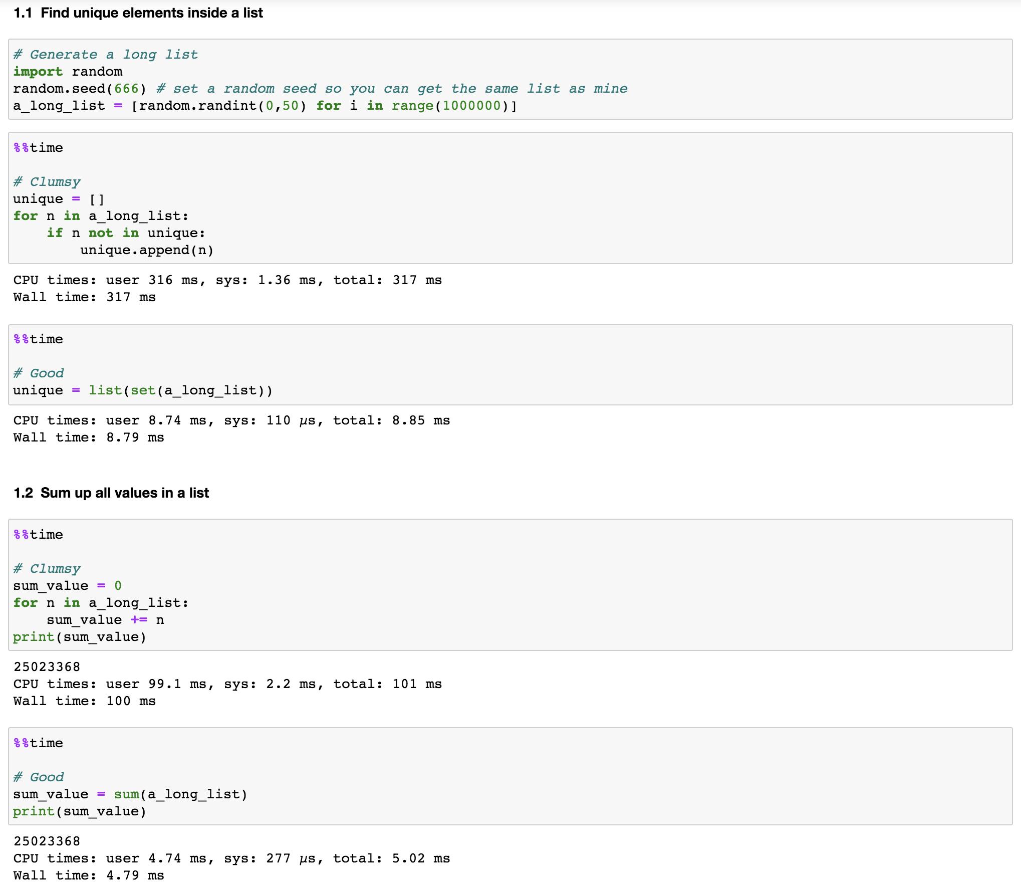 Ten Tricks To Speed Up Your Python Codes   Jun's blog